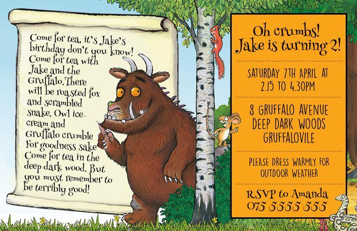 Gruffalo invitation