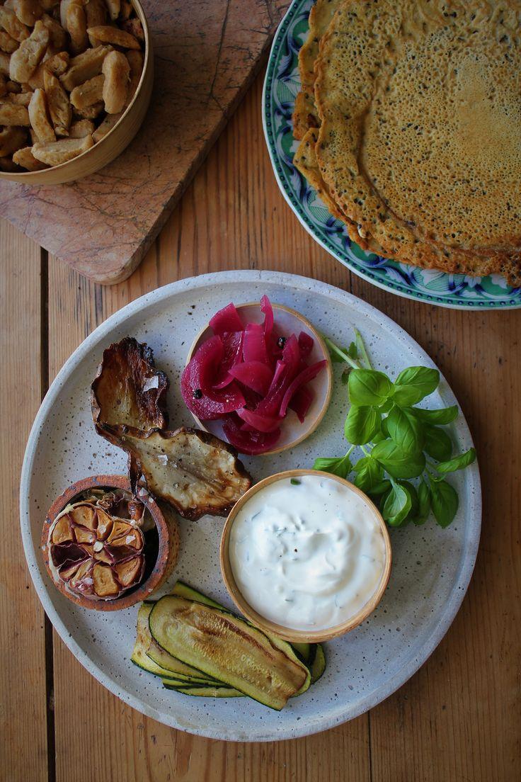 Glutenfri kikærtepandekager med jordskokker