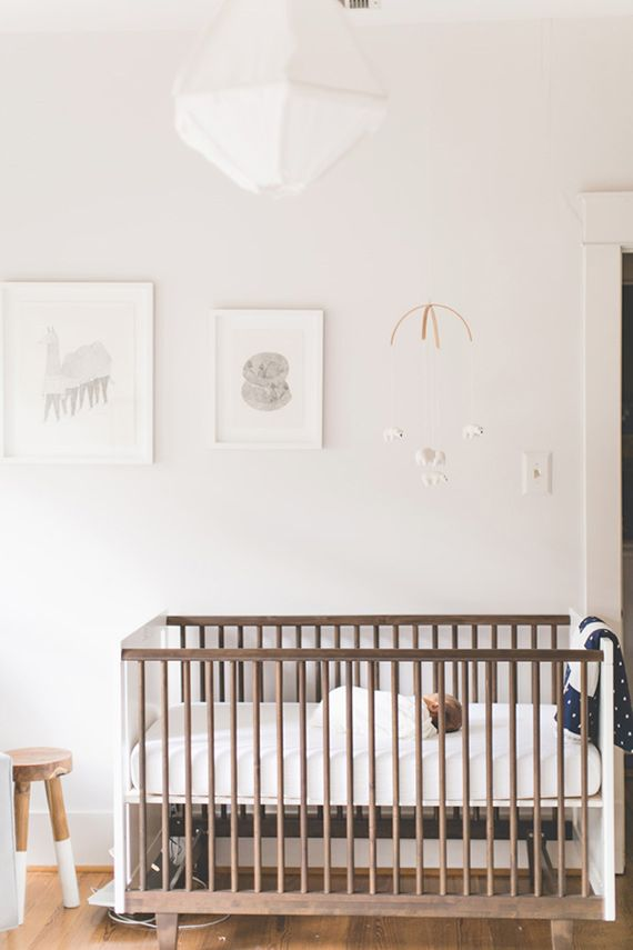 Neutral modern nursery design