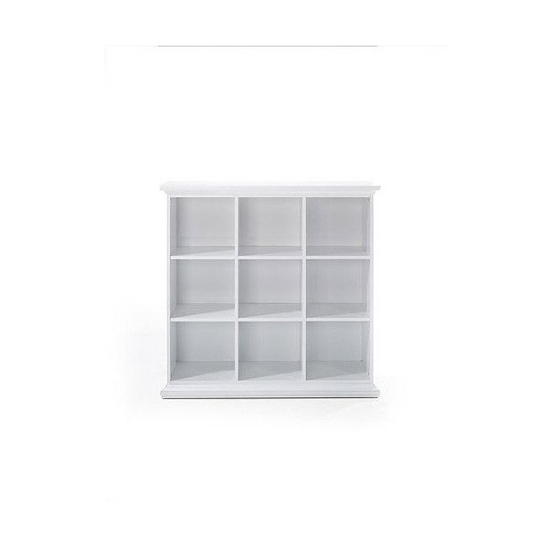 Maison park 6 shelf bookcase white liked on for Decoration maison walmart