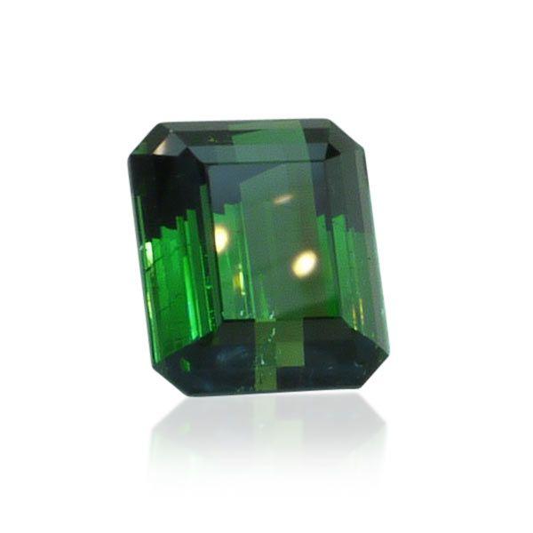 Turmaline Edelstein Turmalin Elbait 17,76 ct Smaragdschliff dunkel Grün  #gems #edelsteine #schmuckboerse #vintage https://www.schmuck-boerse.com/div-edelsteine/27/detail.htm