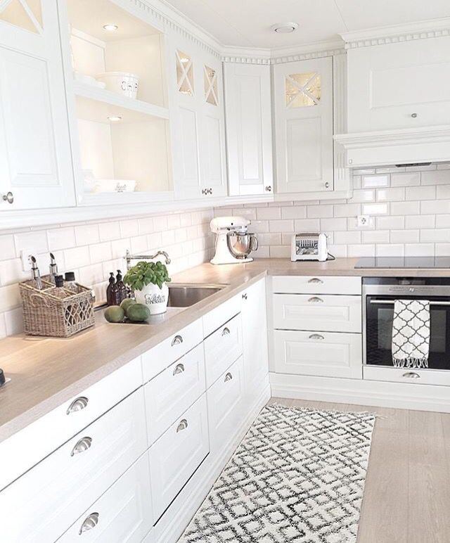 A simple white kitchen..