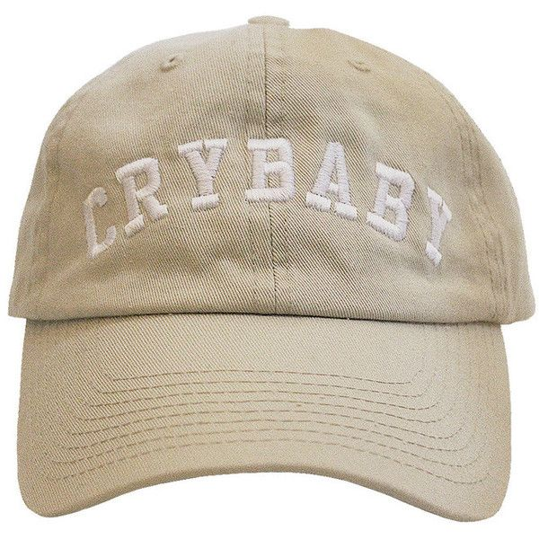 Crybaby ($25) ❤ liked on Polyvore featuring accessories, hats, headwear, fillers, stone cap, caps hats, white hat and white cap