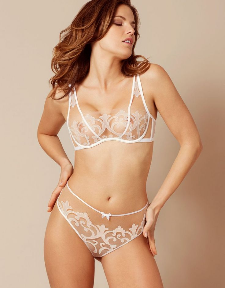 Agent Provocateur Haylie Bridal White Nude Illusion -3155