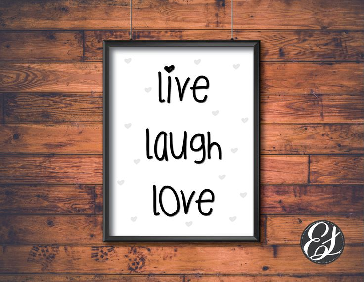 """PRINTABLE """"Live Laugh Love"""" Wall Hanging   Wall Decor    Print-ready   Living Decor   Home Decor   Digital File   Dining Decor   Print File by ElgraphicsCanada on Etsy"""