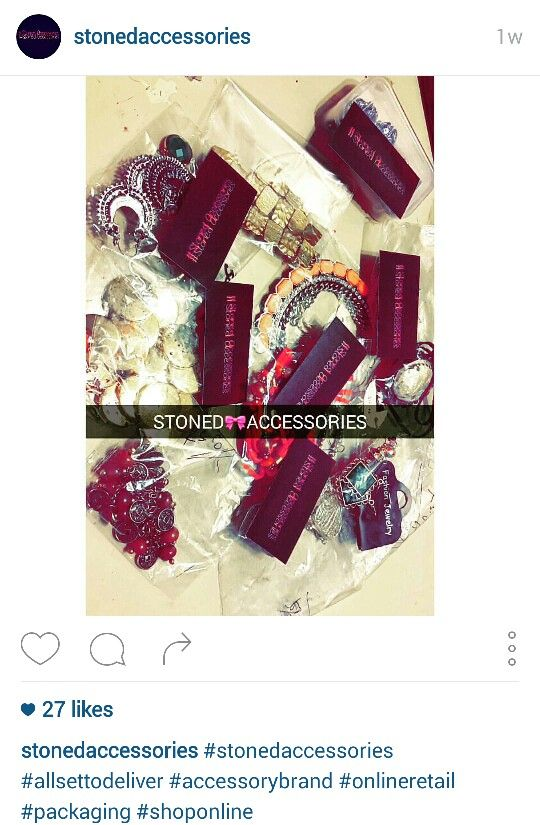 Stoned accessories packing for customers