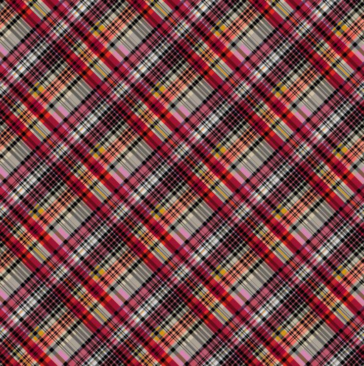 """""""Scottish Harmony"""", grafica di TheColorSoup  #stripes #colors #graphics #design"""