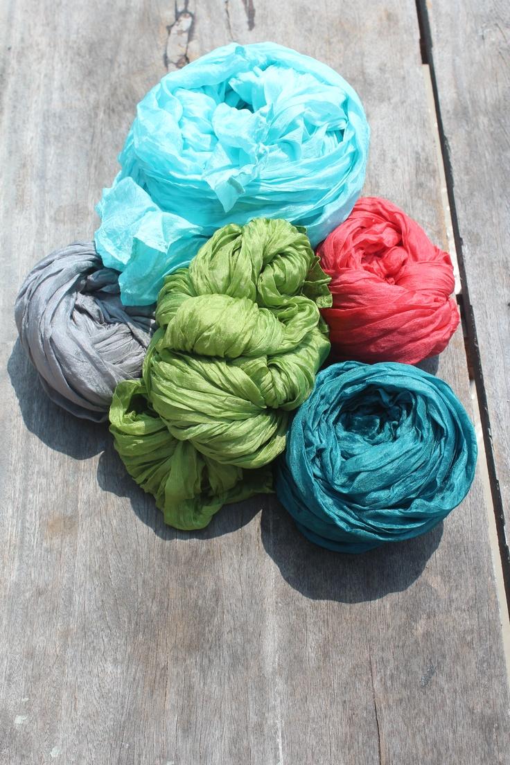 colourful organza hand made shawls