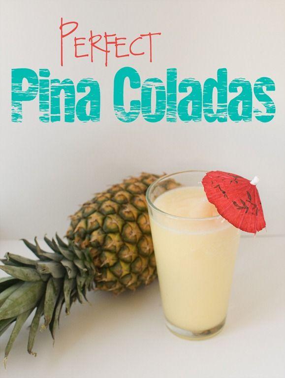 EASY 3 Ingredient Pina Coladas - such a fun summer drink that kids love!