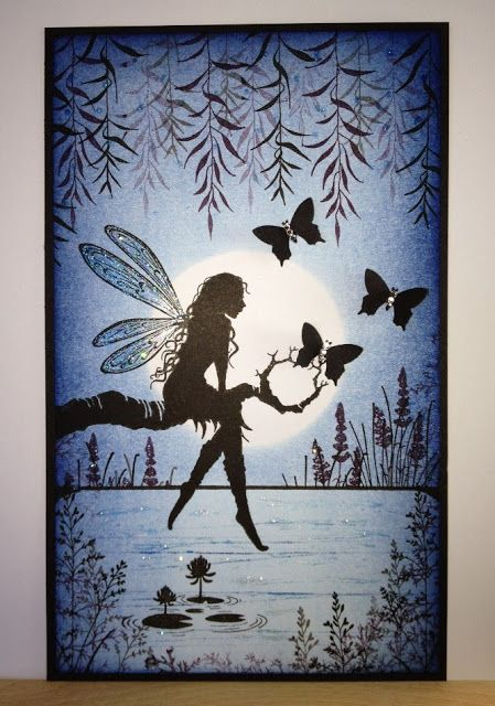 Wendy's Card Craft: Lavinia Stamps Challenge.... Use a die or punch. Make beautiful cards and gifts using a unique range of clear stamps, created by Tracey Dutton from Lavinia Stamps. Magical mystical and Floral images, which include a wonderful range of silhouette Fairies