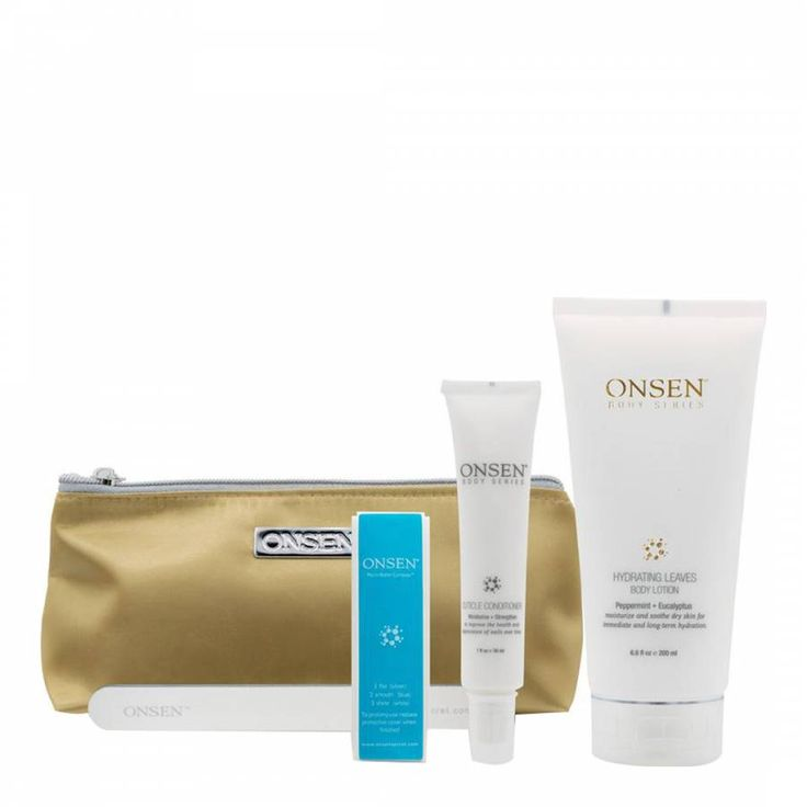 Onsen Nail Kit Hydrating Leaves Gold
