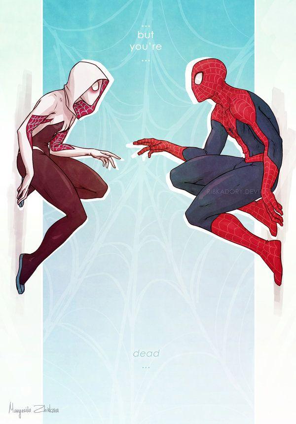 Worlds Collide by Margarita Zhirkova #SpiderGwen #Spiderman #GwenStacy