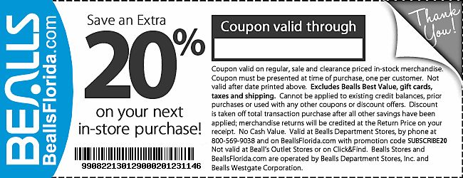 Printable coupons for stage department stores