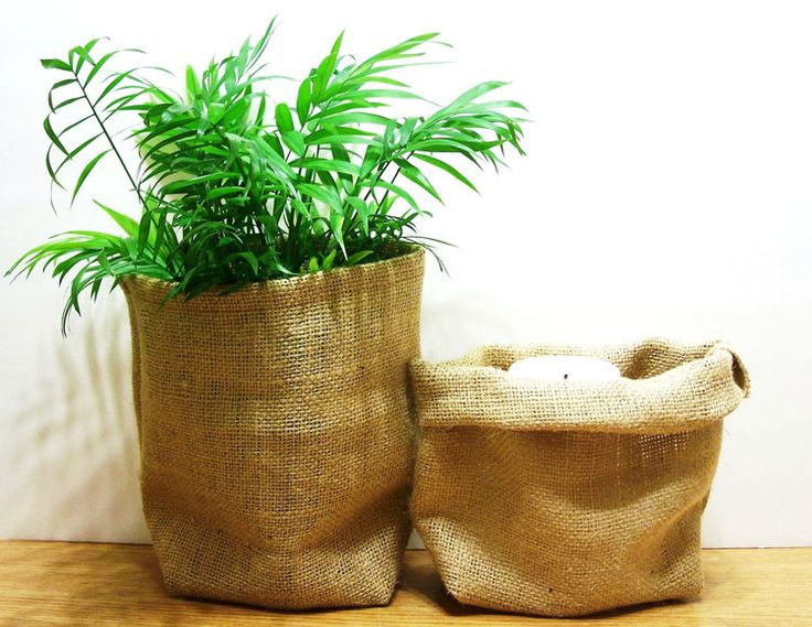 Jute plant pouch / cover.