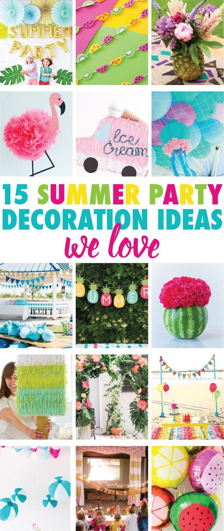 Beach Birthday Diy Party Centerpiece Summer Party Decorations
