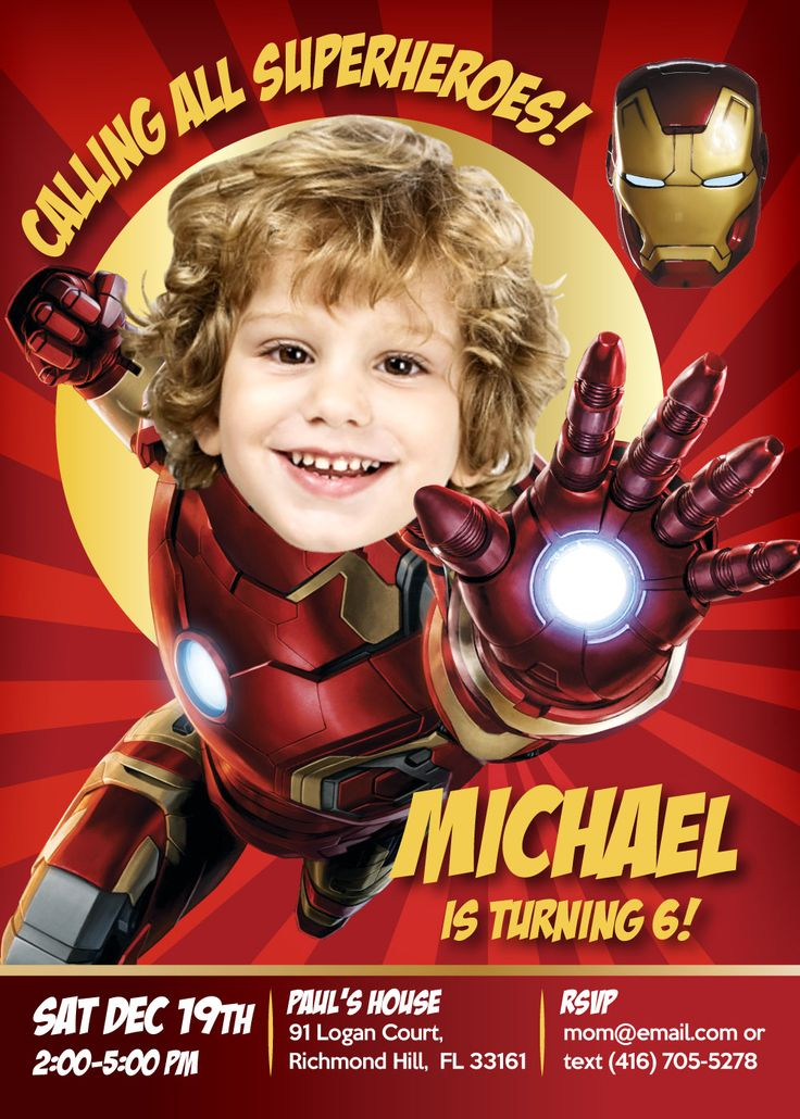 95 best Superheroes Birthday Invitations. Turn your child into ...