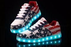 Buty LED USA Style Czerwone