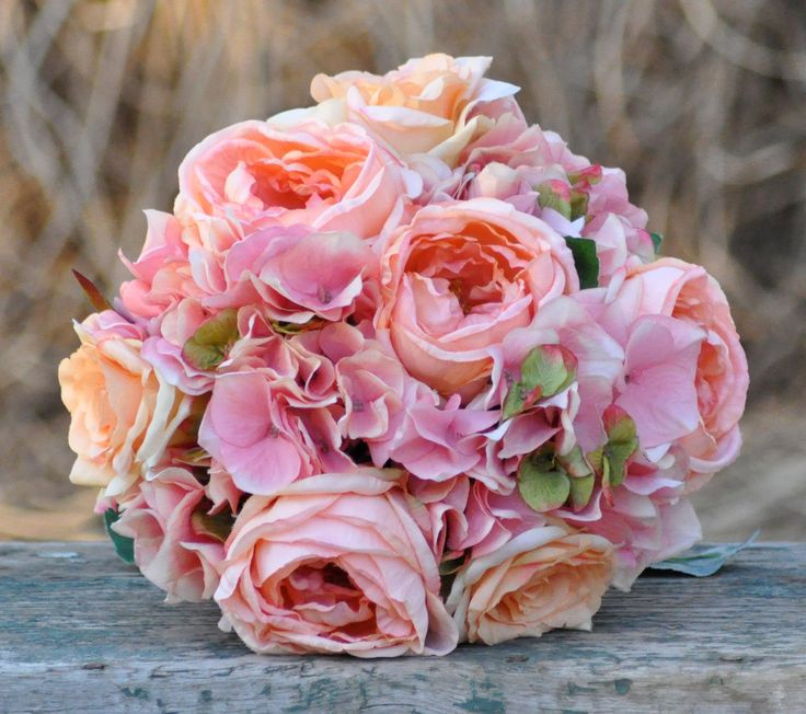 Coral And Pink Wedding Flowers: 25+ Best Ideas About Hydrangea Wedding Bouquets On