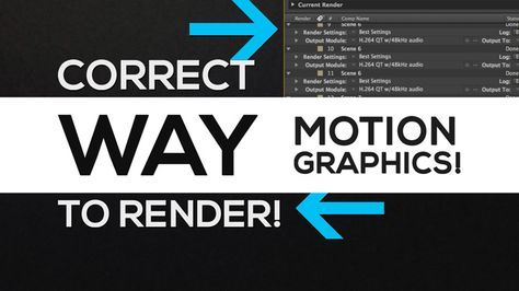 After Effects – How to Render Motion Graphics Correctly Tutorial