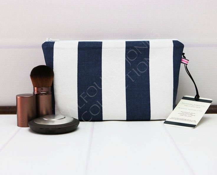 Small Makeup Pouch - Cosmetic Bag - Womens Toilet Bag - Stripe Zipper Pouch - Travel Makeup Bag - Accessory Bag - Premier Prints by TalfourdJones on Etsy
