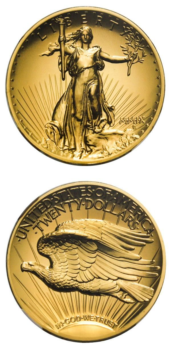 David Lawrence Rare Coins,  has this item on Collectors Corner - 2009 $20 Ultra High Relief Double Eagle MS70 NGC