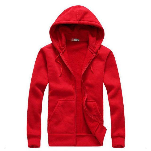 iMucci Red Sweatshirt Men Solid Color Women Hoodies Casual Side Zipper Mensports Suit Slim Sportsware Tracksuit Black Hoody