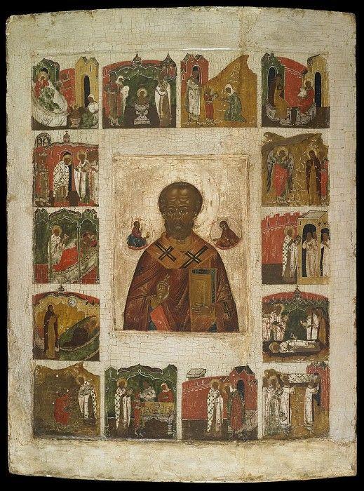 Святой Николай Чудотворец с житием. Иконы