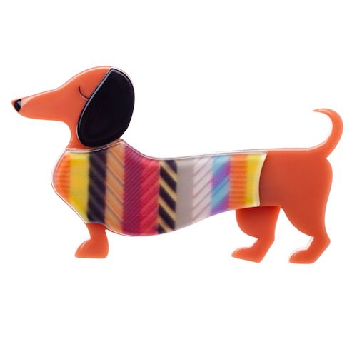 Samuel the Silly Sausage brooch