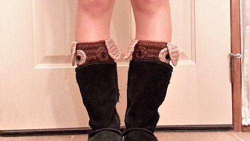 Ravelry: Peek-a-boo puppy boot cuffs pattern by Carol L Hladik
