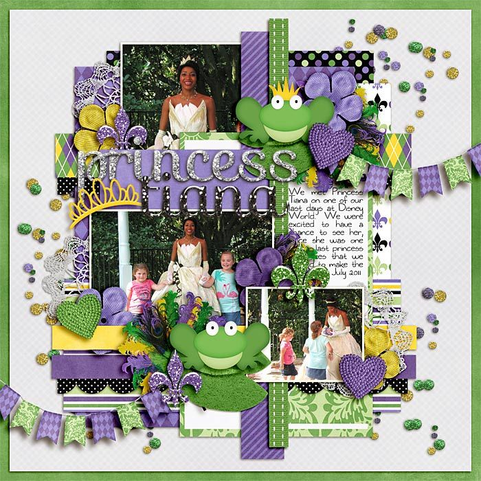 Disney scrapbook layout idea