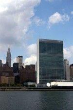 New York, Skyline della baia di New York - United Nation Headquarters (Wallace K. Harrison, Le Corbusier, Oscar Niemeyer, 1947-1952)