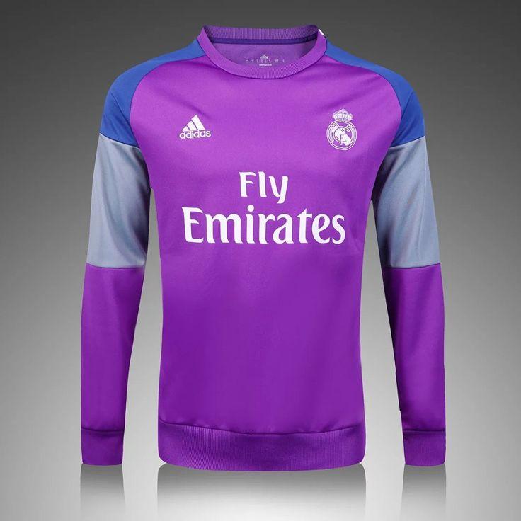 Real Madrid 2016/17 Purple Long Sleeve Training Top