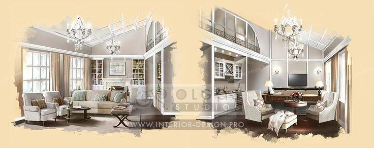 House living room design http://interior-design.pro/en/house-interior-design