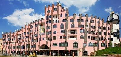 Aussergewöhnliche Hotels: Grüne Zitadelle von Magdeburg, Aussenansicht