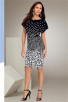 Dolman Polka Dot Dress | Metrostyle