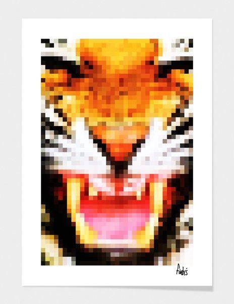 "Curioos.com   ""PixelTiger"" by Fimbis  - Gallery Quality Art Print"