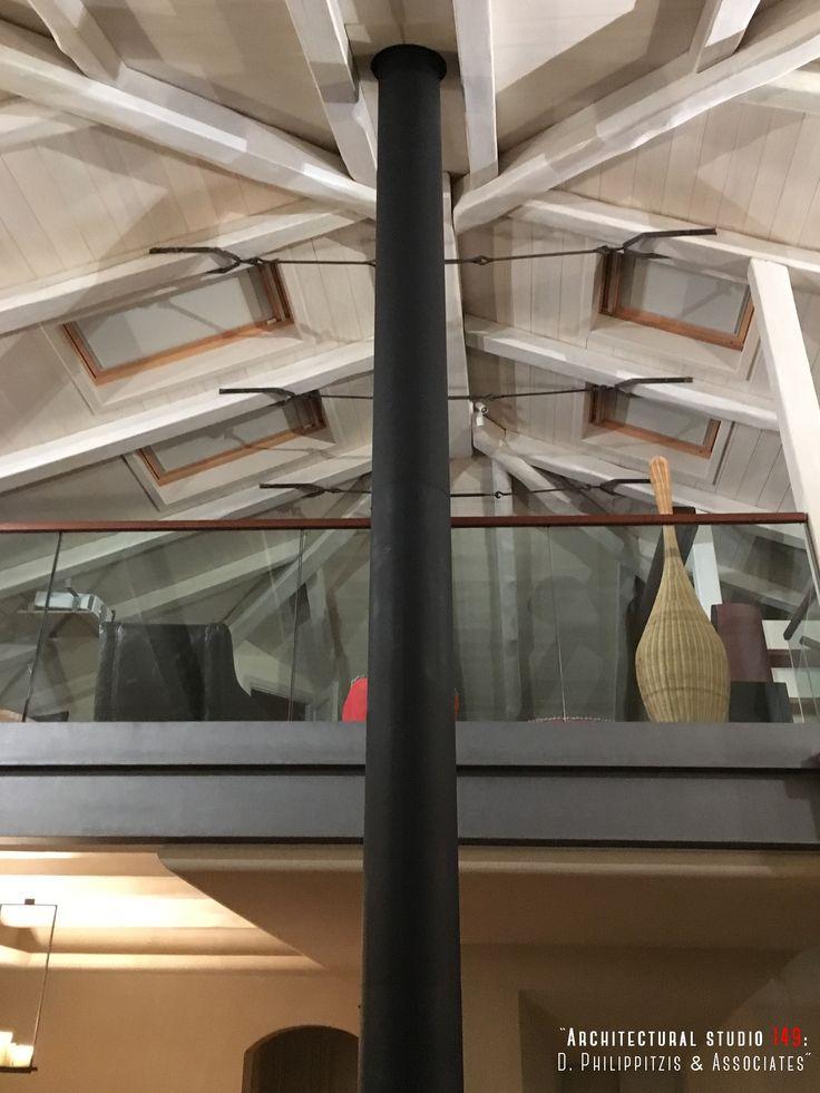 Details of a residential mansion _ attic | loft | interior design | mansion | Pelion | wooden roof | window | lighting | renovation _ visit us at: www.philippitzis.gr