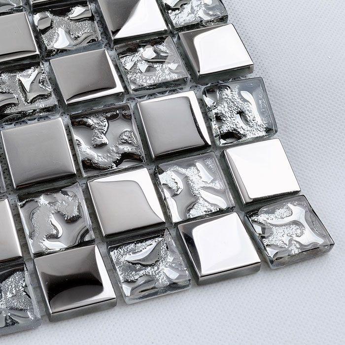 Glass tile walls kitchen backsplash floor discount bathroom tile crystal wholesale mosaic sheets