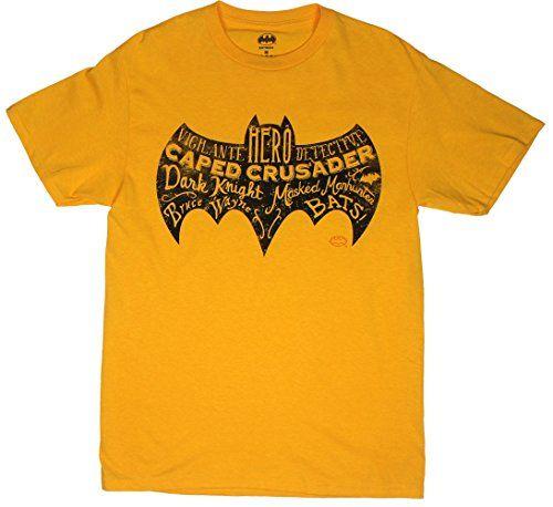 Batman Text Logo - DC Comics T-shirt: Adult XL - Gold @ niftywarehouse.com #NiftyWarehouse #Batman #DC #Comics #ComicBooks