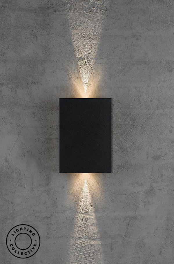 Modern Decorative Up Down Led Wall Light Adjustable Facia In 2020 Wall Lights Modern Exterior Lighting Exterior Wall Light