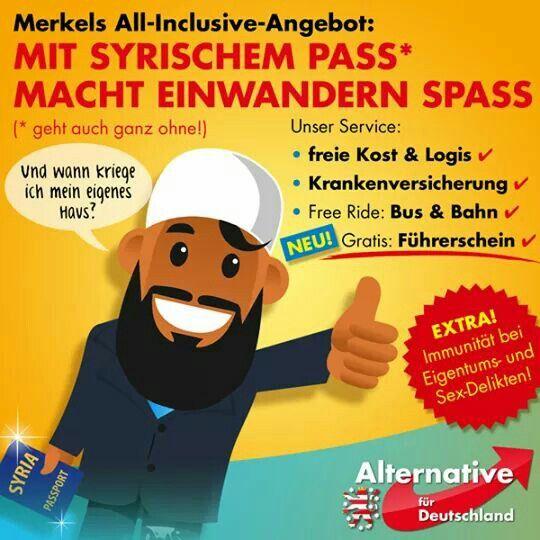 Merkels All-Inclusive-Angebot: Mit syrischem Pass macht einwandern Spaß!