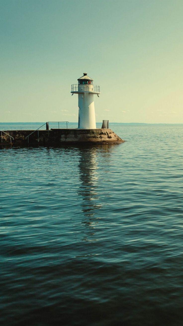 Ocean Lights house nature wallpaper #Iphone #android #ocean #nature #lighthouse #wallpaper more at wallzapp.com
