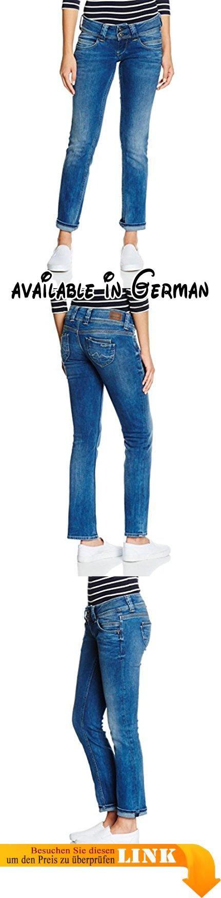 Pepe Jeans Damen Straight Leg Jeans Venus, Blau (PL200029Z552), W32/L32. Straight Fit. niedrige Leibhöhe. gerader Beinverlauf. 11OZ ORIGINAL ROPE DYE MD #Apparel #PANTS
