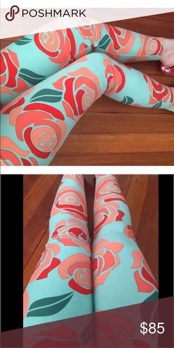 NWT Lularoe OS~Leggings ROSES Disney Blue Red Pink Brand-new buttery soft leggings! Major UNICORN Print!! Very hard to find print!! Size is OS-One Size. Fits 2-12. brand-new with tags, smoke free home. 