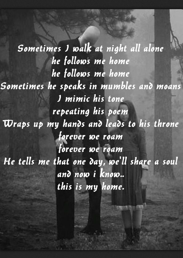 #creepypasta #slenderman #poem