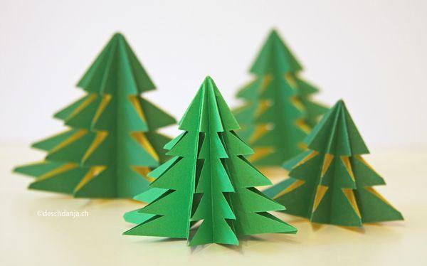 DIY: Origami-Weihnachtsbaum