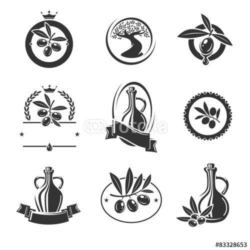 Вектор: Olive labels set. Vector