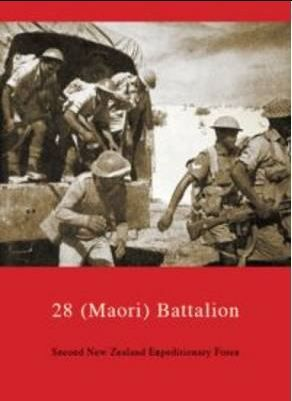 28 Maori Battalion.  By J. F. Cody  This book is part of the series 'Official History of New Zealand in the Second World War 1939-1945' and as such, is a formally written account. It covers departure from New Zealand to 'The Battle of Britain', then to the Middle East, Greece and Crete on to Libya, Egypt and the Western Desert Campaign under Generals Alexander and Montgomery. It includes maps and diagrams of battles.
