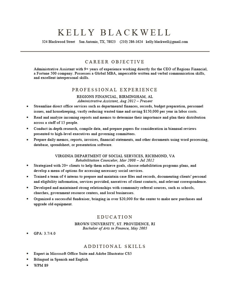 Build a Resume in Minutes