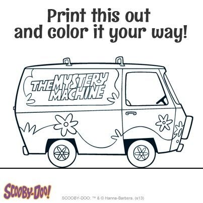 scooby doo mystery machine coloring page